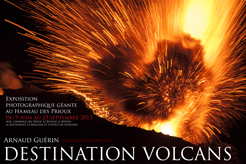 Affiche expo DESTINATION VOLCANS